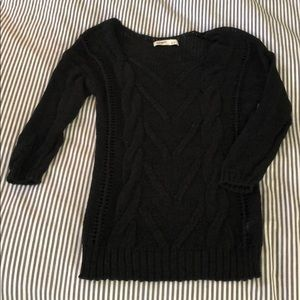 Old Navy black sweater, cable knit, Sz. S